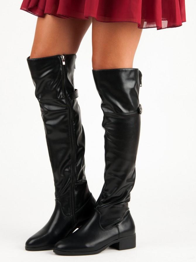 Czasnabuty visoki škornji crna barva