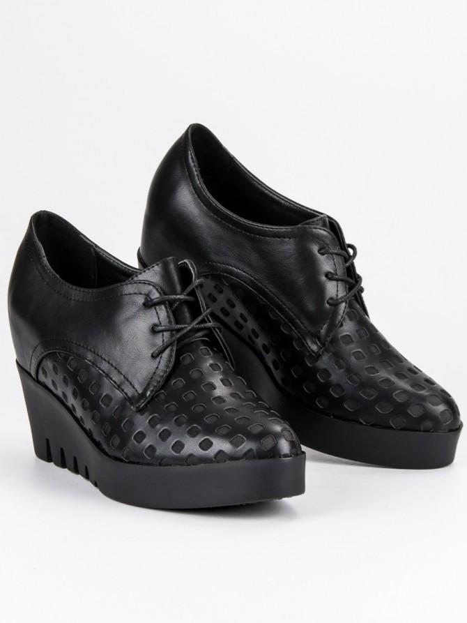 J. star nizki elegantni čevlji crna barva