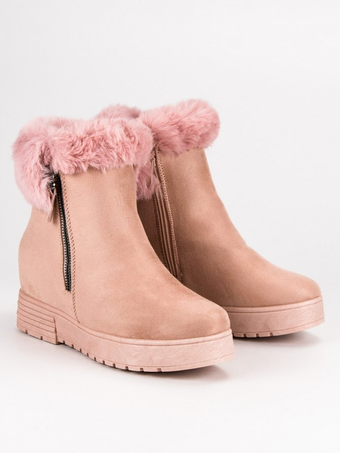 Lucky shoes gležnarji, piščančki roza barva