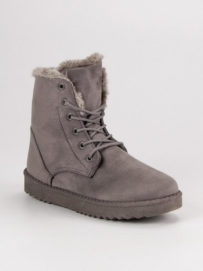 Forever folie sneg škornji siva/srebrna barva