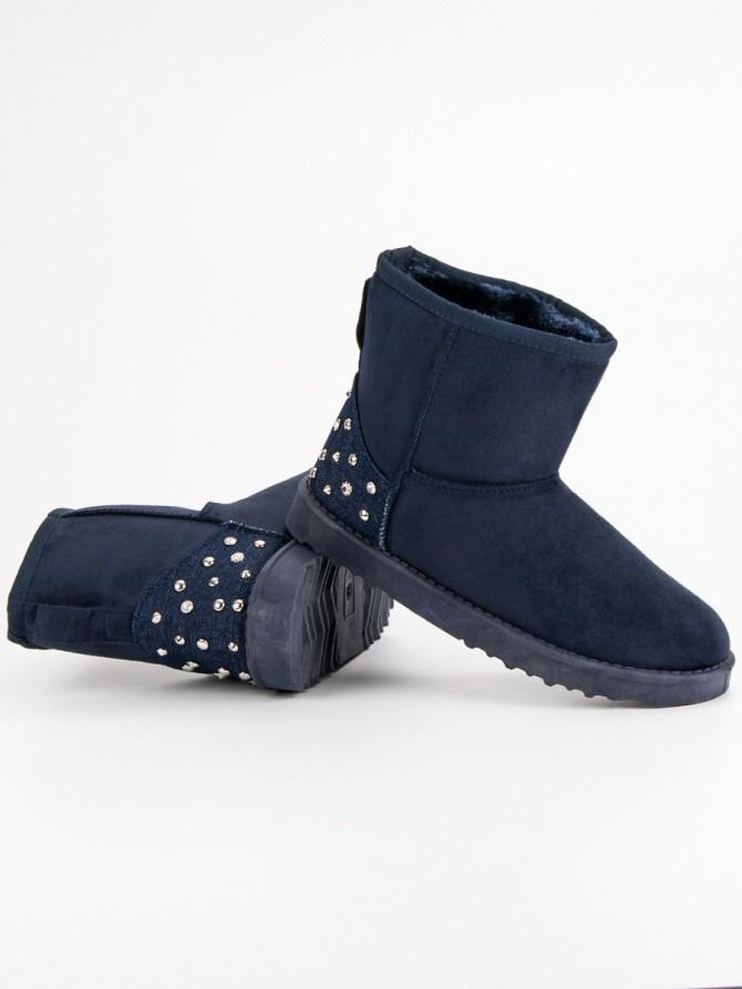 Czasnabuty sneg škornji modra barva