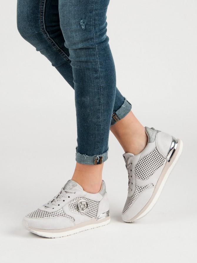 Aclys superge, nizki čevlji siva/srebrna barva