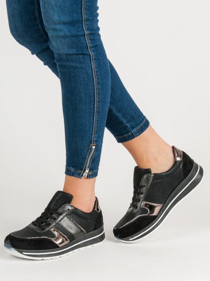 Shelovet superge, nizki čevlji crna barva