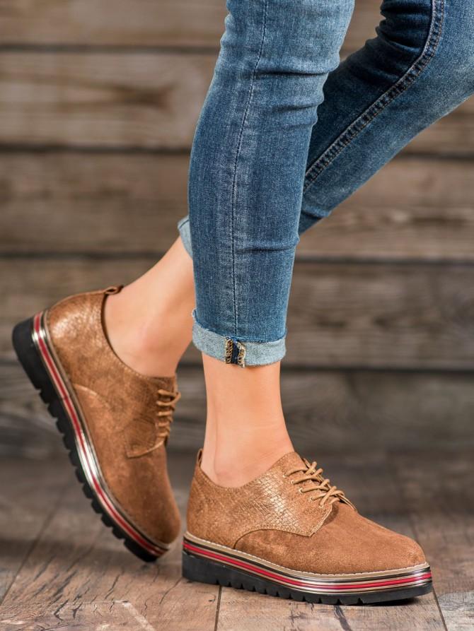 Shelovet nizki elegantni čevlji rjava/bez barva
