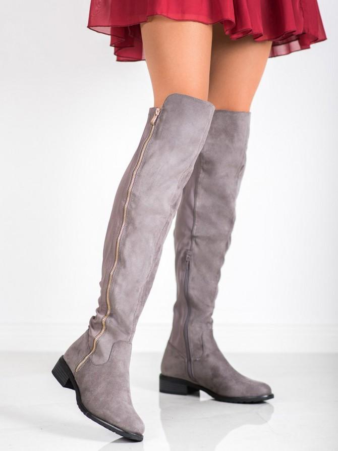 Seastar visoki škornji siva/srebrna barva
