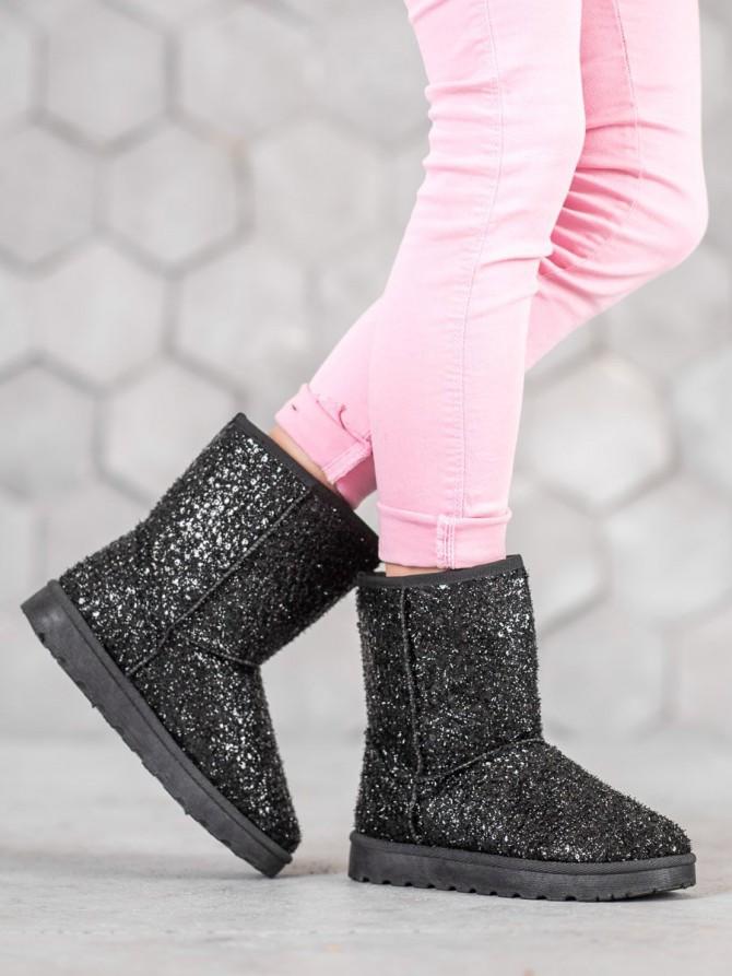 Shelovet sneg škornji crna barva
