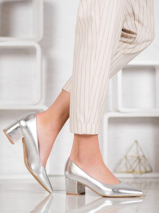 Ideal shoes salonarji siva/srebrna barva