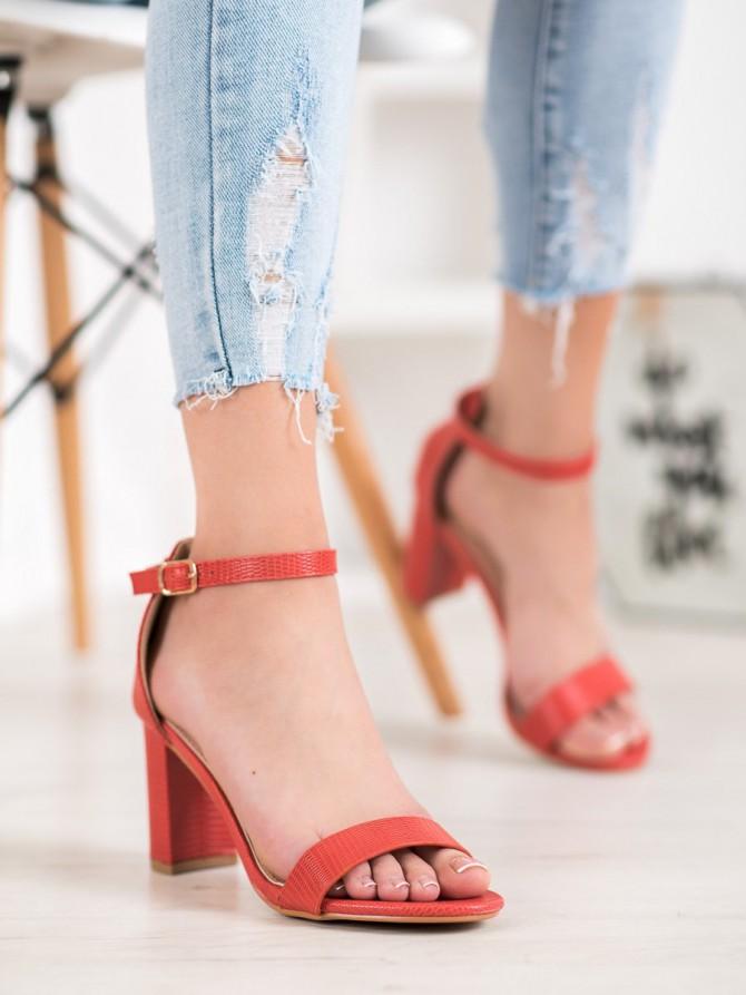 66449 - Small swan sandali rdeca barva