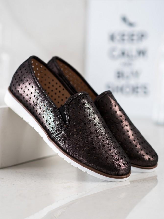 70077 - Kylie nizki elegantni čevlji crna barva