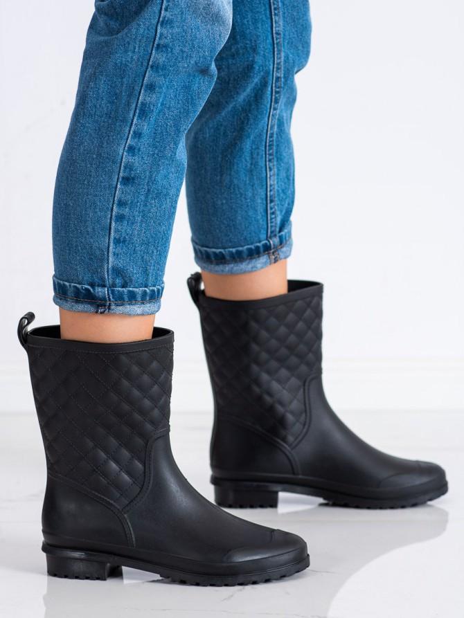 71793 - Shelovet Škornji za dež crna barva