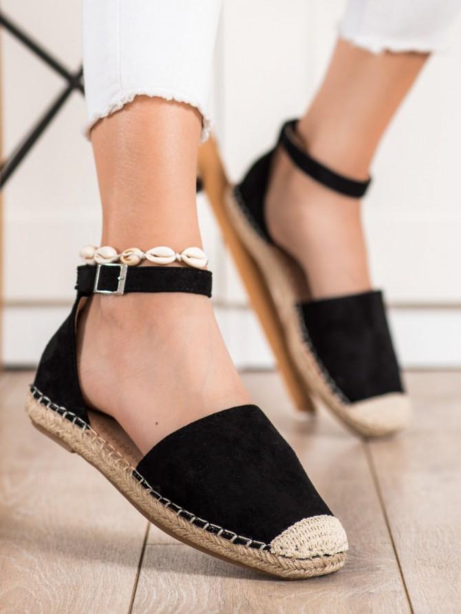 72351 - Small swan nizki elegantni čevlji crna barva