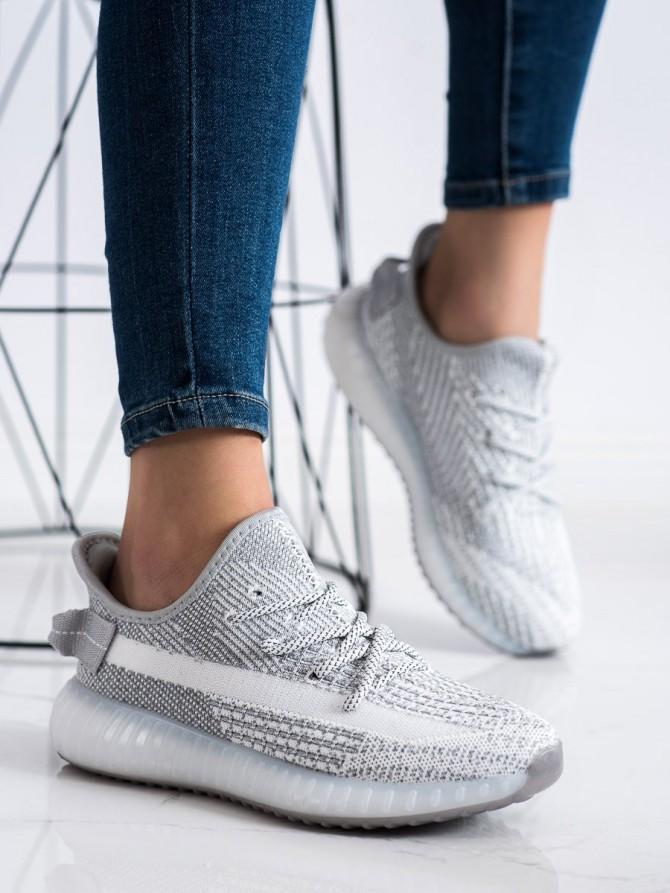 72482 - Shelovet superge, nizki čevlji siva/srebrna barva