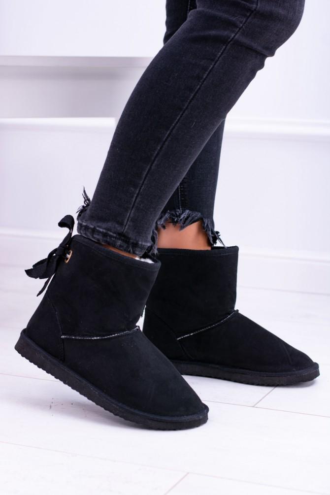 Črni sneg škornji IRMINE