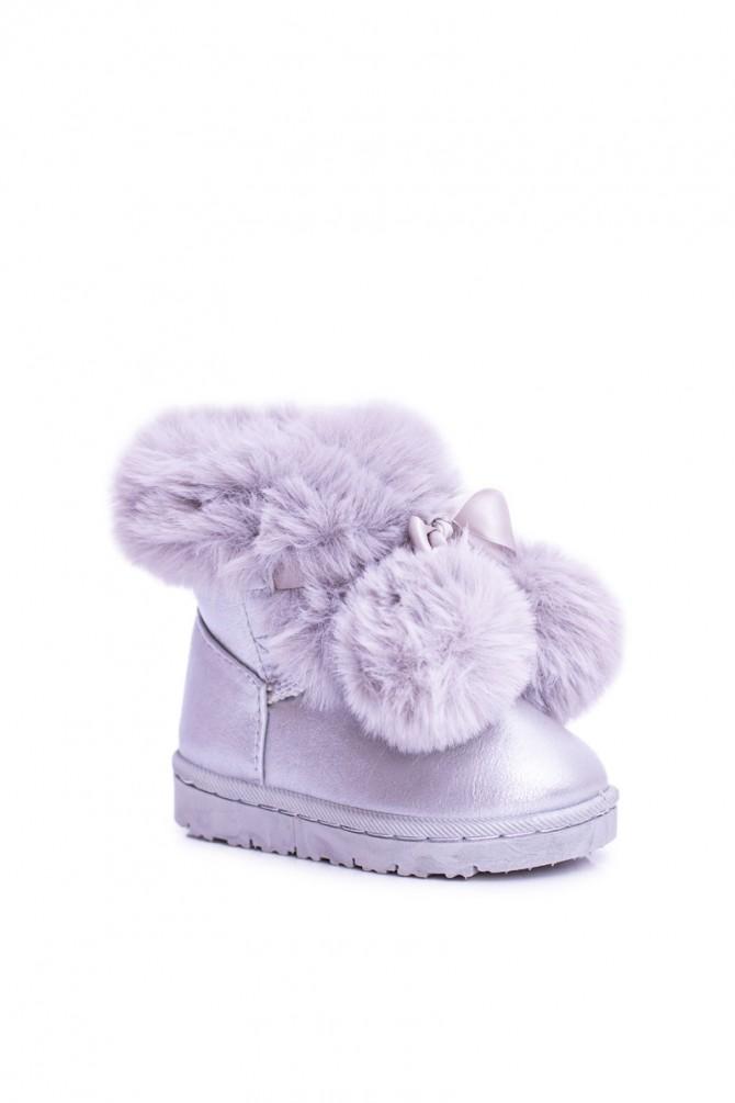 Sivo-srebrni škornji ROOFY