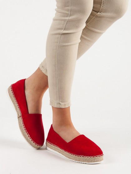 56640 - Small swan superge, nizki čevlji rdeca barva