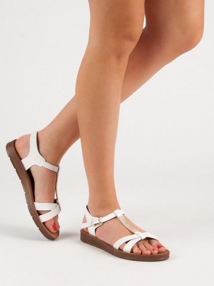 56668 - Filippo sandali bela barva