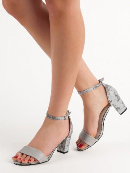 58516 - Goodin sandali siva/srebrna barva