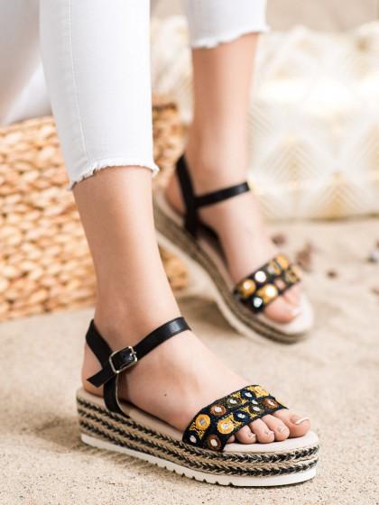 58605 - Shelovet sandali crna barva