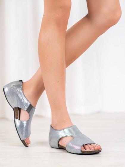 64615 - Vinceza sandali siva/srebrna barva