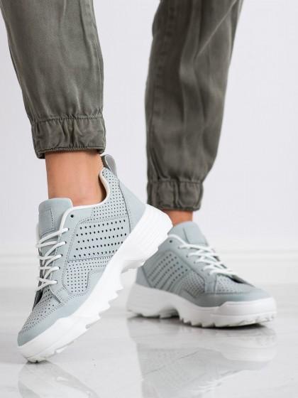 65091 - Kylie superge, nizki čevlji siva/srebrna barva