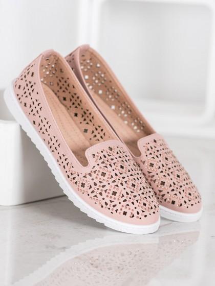 65346 - Weide balerinke, espadrile roza barva