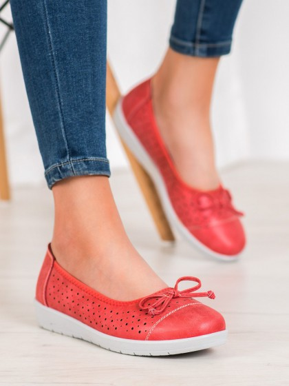 65401 - Shelovet balerinke, espadrile rdeca barva