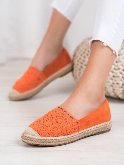 65505 - Small swan balerinke, espadrile oranzna barva