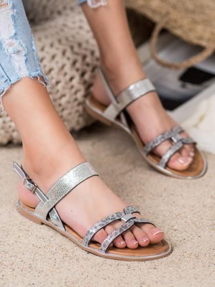 65721 - Vinceza sandali siva/srebrna barva