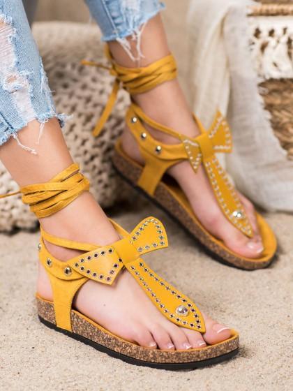 65852 - Seastar sandali rumena/zlata barva