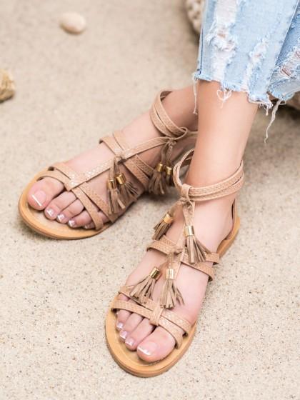 65882 - Shelovet sandali rjava/bez barva