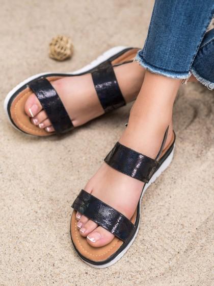 65911 - Small swan sandali crna barva
