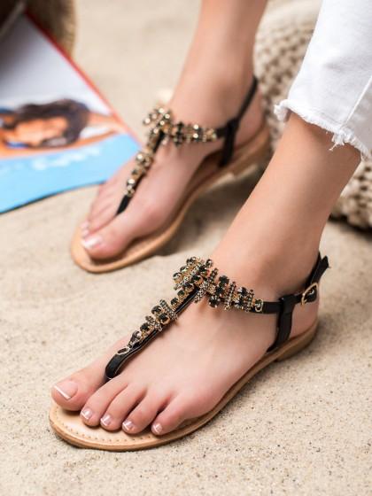 65914 - Small swan sandali crna barva