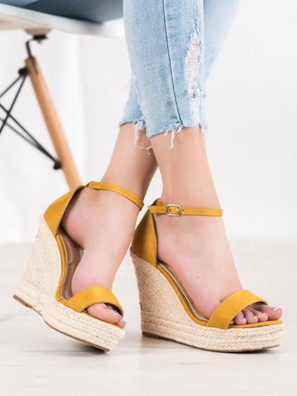 66027 - Shelovet sandali rumena/zlata barva