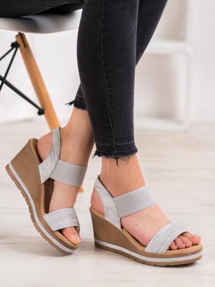 66324 - Sea elves sandali siva/srebrna barva