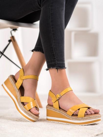 66497 - Weide sandali rumena/zlata barva