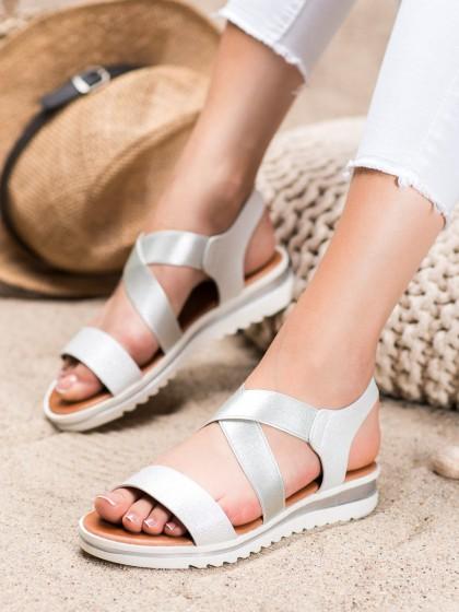 66503 - Weide sandali bela barva