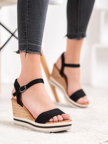 66533 - Weide sandali crna barva