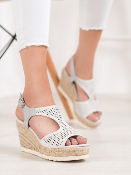 66922 - Aclys sandali siva/srebrna barva