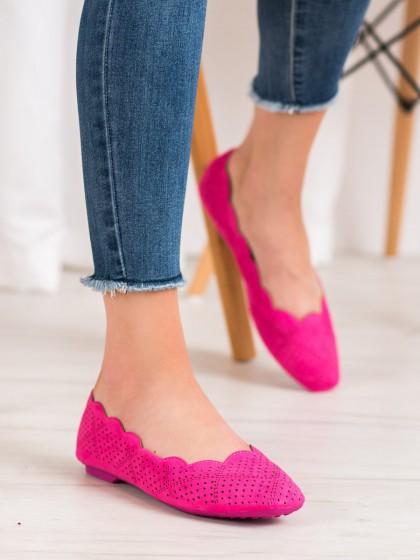 67411 - Small swan balerinke, espadrile roza barva