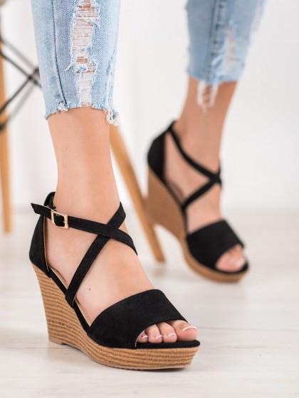 67584 - Small swan sandali crna barva
