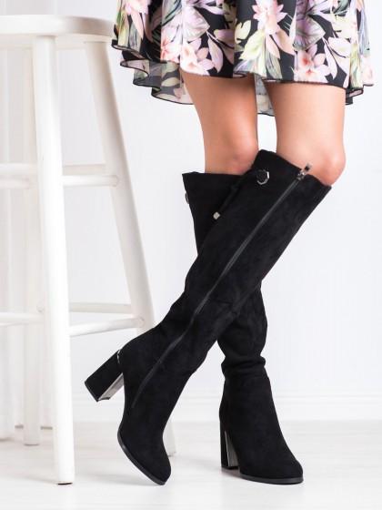 68532 - Goodin visoki škornji crna barva