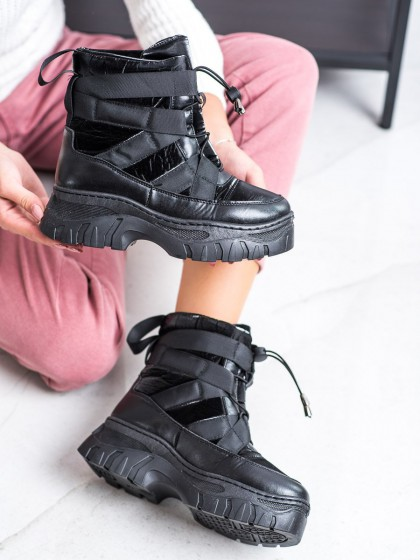 68985 - Shelovet sneg škornji crna barva