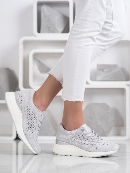 69861 - Goodin superge, nizki čevlji siva/srebrna barva