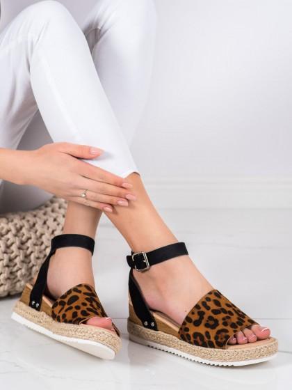 69983 - Kylie sandali zivalski motiv barva