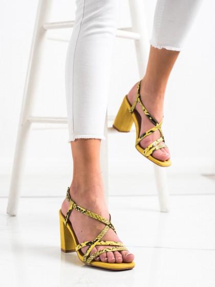 70074 - Kylie sandali rumena/zlata barva