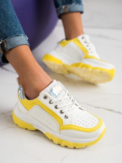 70130 - Shelovet superge, nizki čevlji rumena/zlata barva