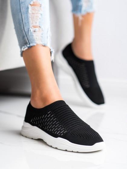 70406 - Ideal shoes superge, nizki čevlji crna barva