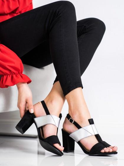 70508 - Vinceza sandali crna barva
