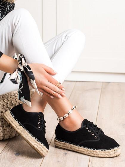 70605 - Shelovet superge, nizki čevlji crna barva