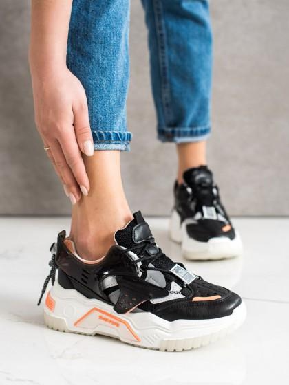 70614 - Shelovet superge, nizki čevlji crna barva